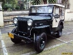 Foto Jeep willys caja agraria en Colombia